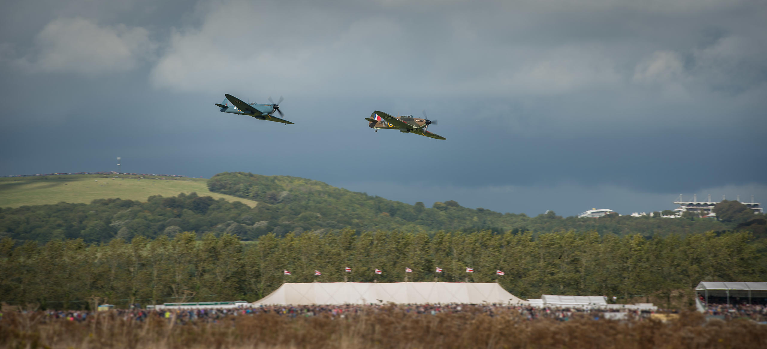 Spitfires Flying over Goodwood
