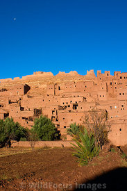 The Kasbah at Ait Benhaddou, Morocco; Portrait