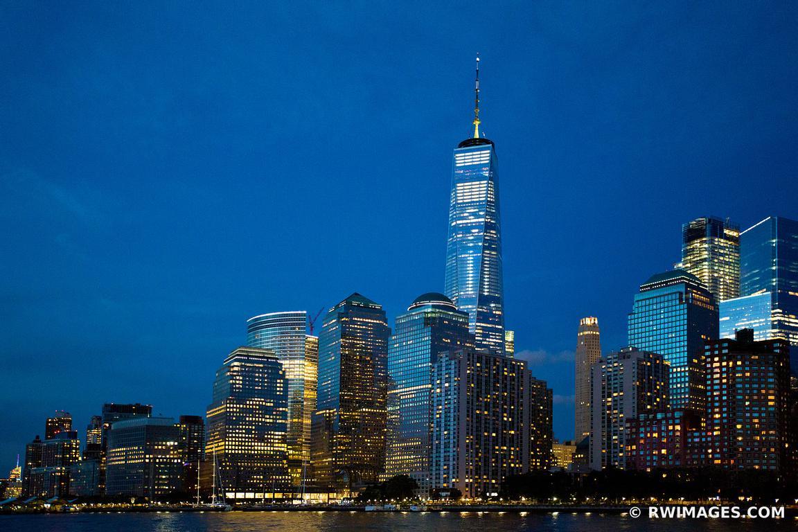 Framed Photo Print Of Manhattan Skyline Night City Lights