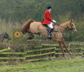 Ashley Bealby jumping a hedge at Town Park Farm
