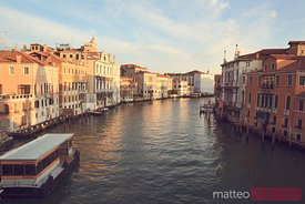 Grand canal from Accademia bridge in Venice