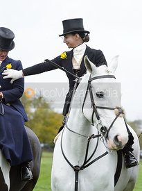 Amy Bryan-Dowell at the meet - Quorn Hunt Opening Meet 20/3