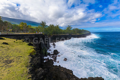 Coast of Cap Mechant place at Reunion Island