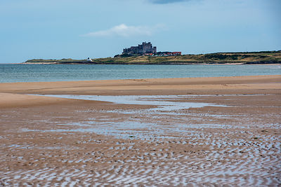 Bamburgh Castle from Ross Sands