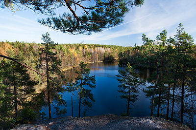 Haukkalampi pond in Nuuksio National Park