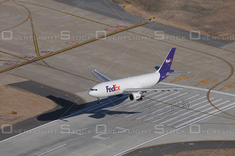 Fed Ex Jets Landing Air-to-Air Aerial Photo Memphis Tennessee