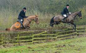Nick Townsend jumping a hedge at Town Park Farm