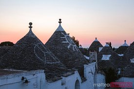 Dawn over Trulli houses, Alberobello, Apulia, Italy