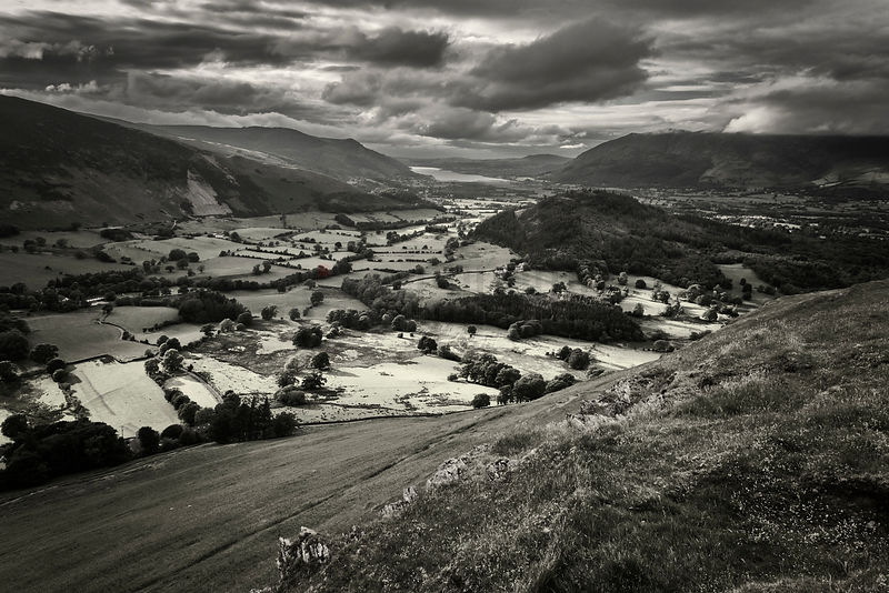 View of the Cumbrian Countryside Looking Towards Ullswater from the Catbells
