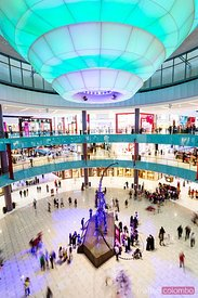 United Arab Emirates, Dubai. Interior of Dubai Mall