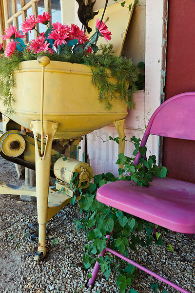 Old Appliance and Pink Chair