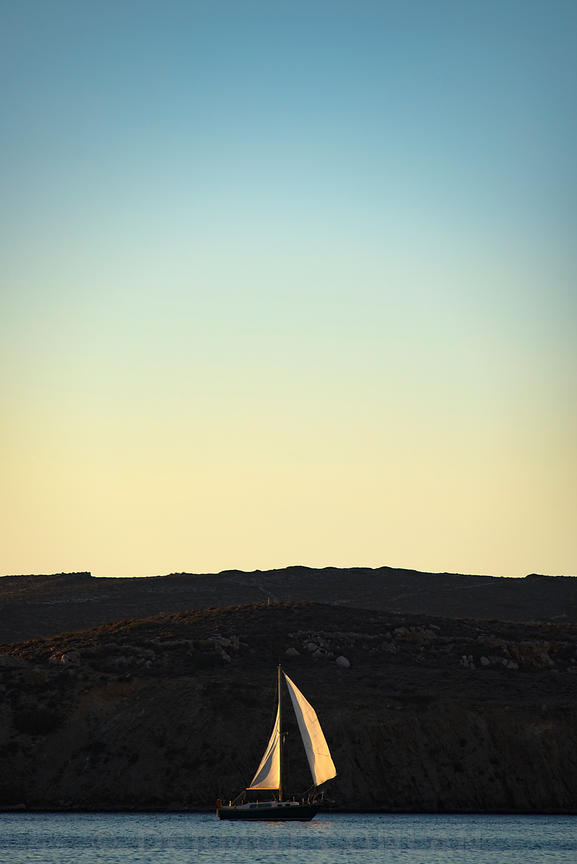 Sailboat, Paros, Greece