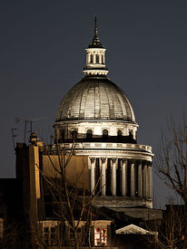 Pantheon Dome at night, Paris
