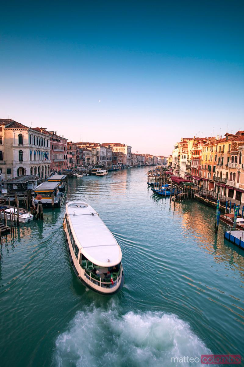 Grand Canal with Vaporetto boat, Venice