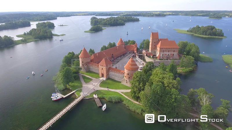 Trakai Castle Drone Video Lithuania