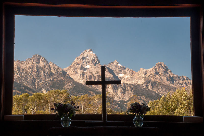 Chapel of the Transfiguration.  Grand Tetons National Park, Wyoming
