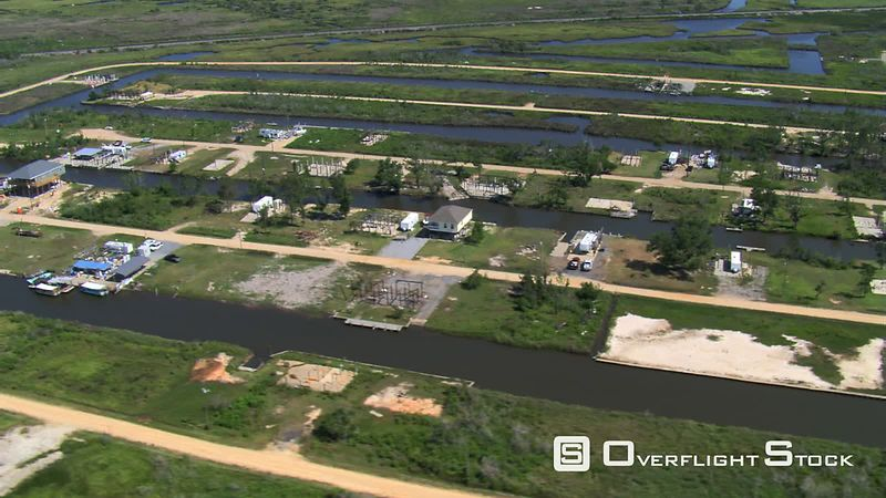 Empty lots where housing was destroyed with wind and floods of Hurricane Katrina, New Orleans, Louisiana