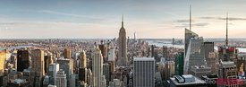 Empire State building and skyline panorama, New York city, USA