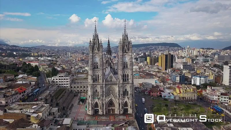 NeoGothic 19th Century Catholic Church. Basilica del Voto Nacional Quito Ecuador