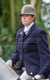 Monica Tebbutt-Wheat - The Cottesmore Hunt meet in Somerby 6/11