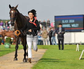 Annabel Wigley and Black Drum - 2nd Inspection - Burghley 2010