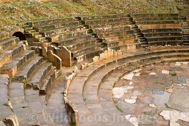 Seatiing at Theatre at Bulla Regia, Tunisia; Landscape