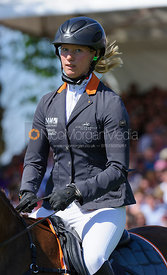 Sandra Auffarth and OPGUN LOUVO - show jumping phase,  Mitsubishi Motors Badminton Horse Trials, 6th May 2013.