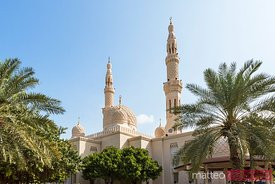 Exterior of Jumeirah mosque, Dubai, UAE