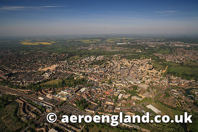 aerial photograph of Oxford  England  UK