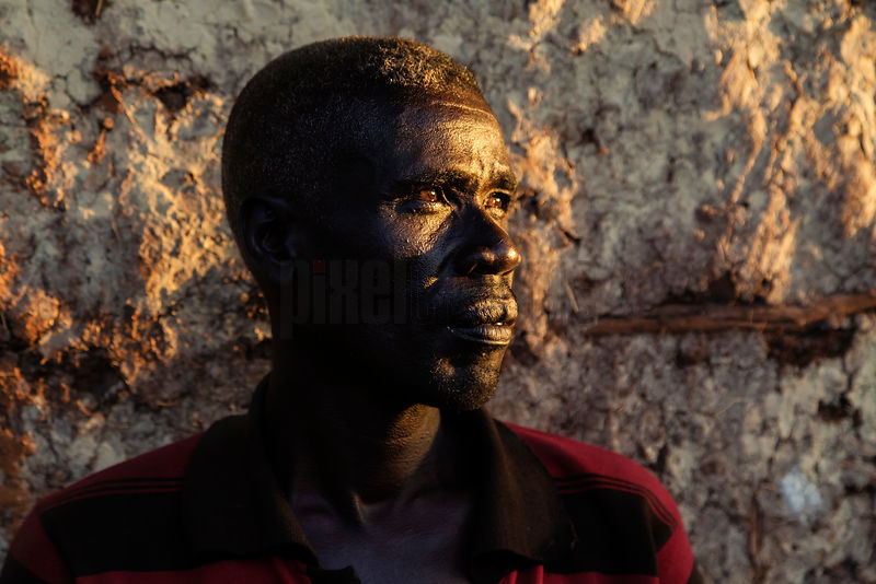 Portrait of a Konso Man at Sunset