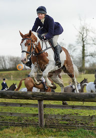 jumping a hunt jump at Windmill Farm - The Cottesmore Hunt at Bleak House