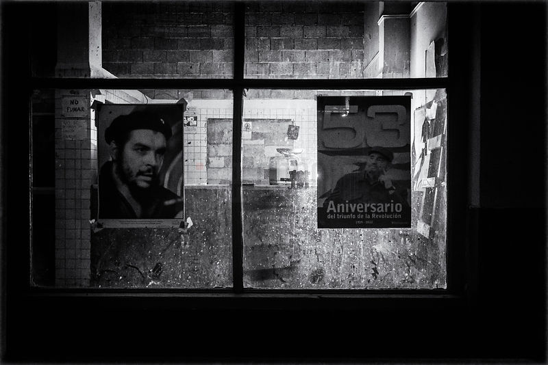 Shop Window and Posters at Dawn
