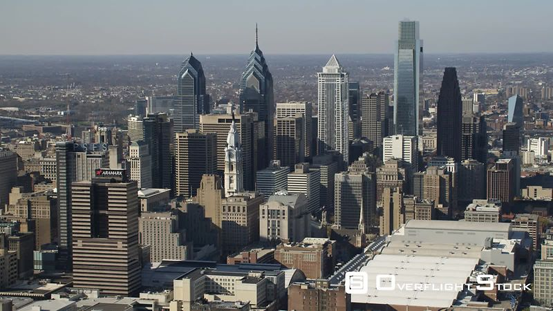 Aerial View of Philadelphia Downtown.