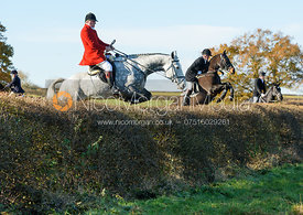 David Bellamy jumping a hedge at Barrowcliffe Farm 18/11
