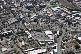 Preston aerial photograph of the area surrounding Walker Street looking towards the Ring Way and Friargate