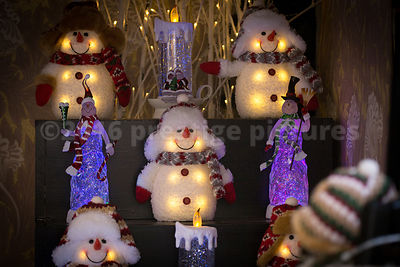 Novelty Christmas Snowman Candles at the Ghent Christmas Market