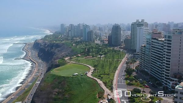 Lima Peru Shoreline and Downtown Districts