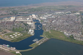 Barrow in Furness Docks and docklands Lancashire