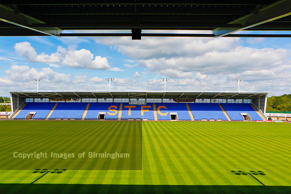 Shrewsbury Town Football Club stadium, Shrewsbury, Shropshire, England, UK