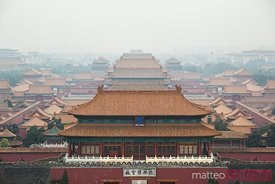 Forbidden city from the top, Beijing, China