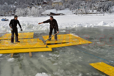 Infrastructure Work on Lake of St.Moritz photos
