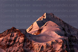 Mt Huayna Potosí south peak at twilight, Cordillera Real, Bolivia