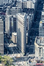 Aerial of Flatiron building, New York, USA