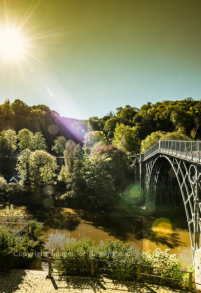 The Iron Bridge in Ironbridge, Telford, Shropshire, England.  A World Heritage Site.