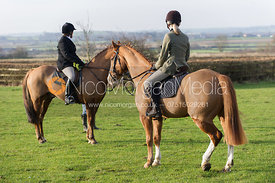 The Belvoir Hunt meet at Sheepwash, Harby, on Saturday 5th January 2013.