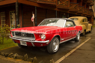 Red Ford Mustang 302