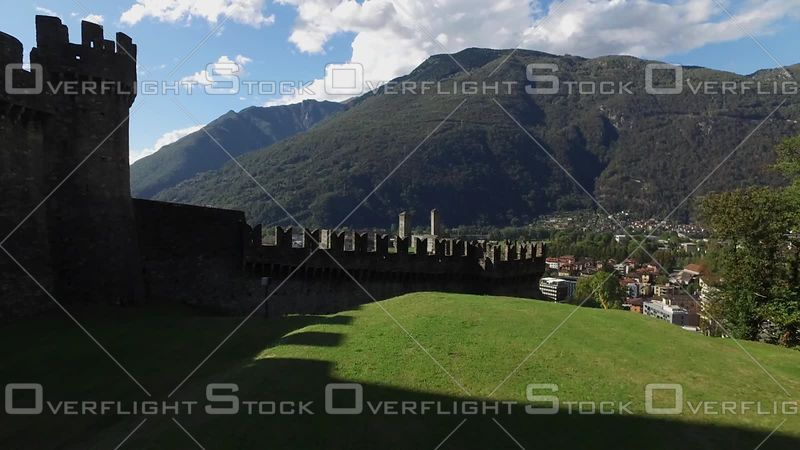 UNESCO World Heritage Site Castle Castelgrande of Bellinzona Switzerland