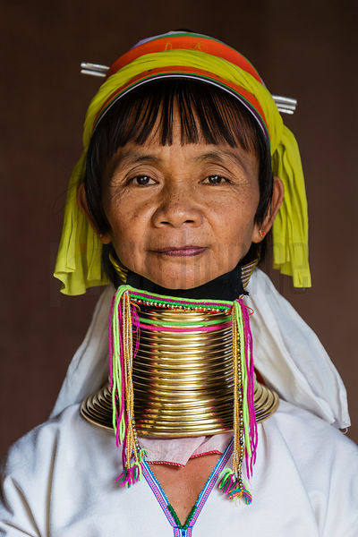 Portrait of a Padaung Woman Mu Phreing (55)