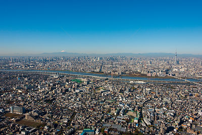 Tokyo Skytree Needle Tower Tallest Structure in Japan and views of Mount Fuji