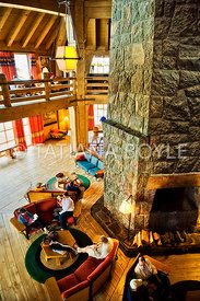 Inside Timberline Lodge
